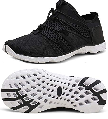Zapatos de Agua Unisex Hombre Mujer Zapatos de Playa de Deporte Secado rápido Anti-Deslizante Zapatillas de Running  Las zapatillas de agua Sisttke cuentan con una malla liviana y un sistema de cinturón en la parte media del pie con deslizamiento par...