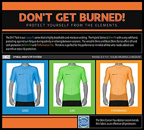 O 'Neill Neoprenanzug Herren UV-Sonnenschutz Basic Skins Short Sleeve Rash Guard Crew Shirt weiß