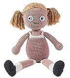 SEBRA Puppe ROSE handgearbeitete Häkelpuppe waschbar Strick Spielzeug Allergiker