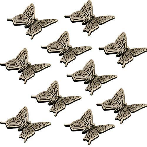 10 pomos bronce forma mariposa armarios cocina, armarios