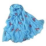 GreatestPAK Damen Schal Plum Weiche Mode Soild Dot Printing Lange Wrap Schals