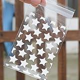 Zonster 100pcs / Set Hochzeit SüßIgkeit-Geschenk Plastik-PläTzchen-Taschen White Star Transparent Weihnachten Kekse Backen Verpackung Beutel