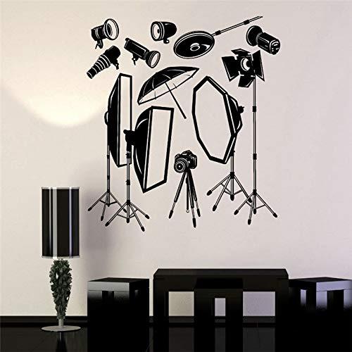 haotong11 Cinema Vinile Adesivo Fotografico Studio Fotografico Attrezzatura Fotografo Mural Art Wall Sticker Studio Room Ufficio Decorazione della casa 58 * 58cm