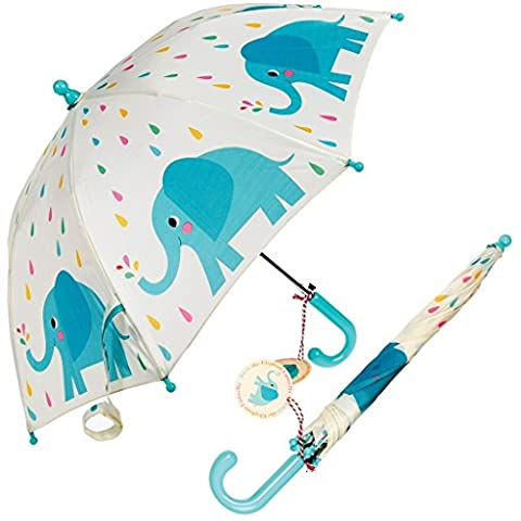 Children's Spring Loaded Umbrella - Choice Of Design ( Elvis The Elephant )