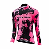 Uglyfrog Damen Lady Radfahren Langarm Radfahren Trikots & Jersey eine Menge Farben Antislip Ärmel Cuff Road Bike MTB Top Riding Shirt