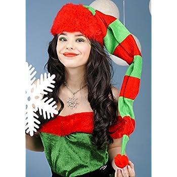 Natale adulto Extra lungo cappello di elfo a righe  Amazon.it ... 20f392a07b6a