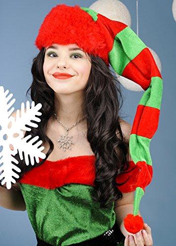 Erwachsenen Weihnachten Extra lang gestreift Elf Hut