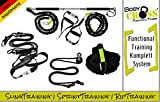 BodyCROSS Premium Functional Set | Schlingentrainer Pro | Rip Trainer | Sprint Trainer | Sling mit Umlenkrolle (Expert Set)
