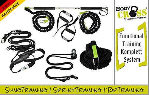 PREMIUM SET | Schlingentrainer Pro | Rip Trainer | Sprint Trainer | Functional Training Komplett Set | Functional Training Kit | inkl. Springseil, Trainingsplan, Übungsposter | Made in Germany (Functional Kit Basic)
