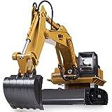 Unbekannt FEI Babyspielzeug 11 Kanal voller funktionaler RC-Bagger, batteriebetriebener elektrischer RC Fernsteuerungsbau-Traktor mit Lichtern u. Ton Frühe Erziehung
