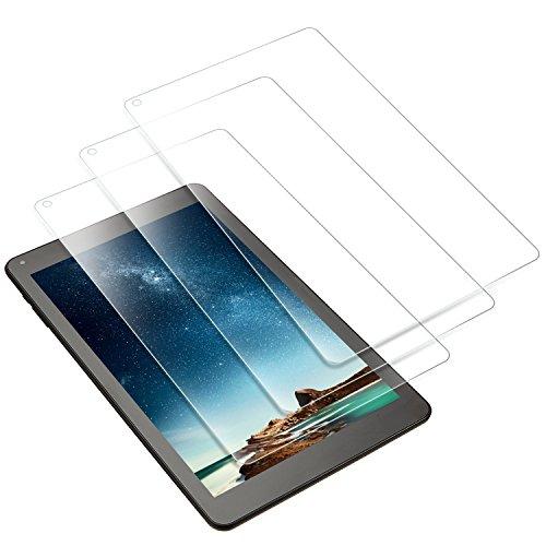 IVSO Odys X610195 Falcon 10 Plus Schutzfolie, Ultra Transparenz, Extrem Kratzfest, 3 x glasklare Bildschirmschutzfolie Schutzfolie für Odys Falcon 10 Plus (10,1 Zoll) Tablet PC, Crystal Clear