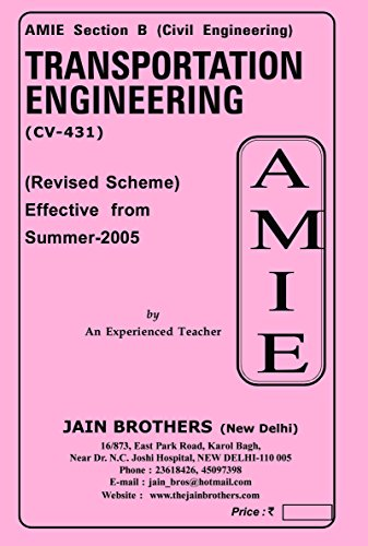 AMIE Transportation Engineering CV 431 Solved Paper