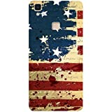 Casotec USA Flag Design 3D Printed Hard Back Case Cover for Vivo V3 Max