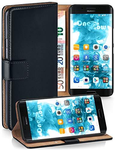 moex® Booklet mit Flip Funktion [360 Grad Voll-Schutz] für Huawei Mate 9 Pro | Geldfach & Kartenfach + Stand-Funktion & Magnet-Verschluss, Schwarz