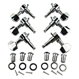 Musiclily 3+3 Big Button Sealed Guitar Tuning Keys Pegs Tuners Machine Head Set Guitar Parts, Chrome