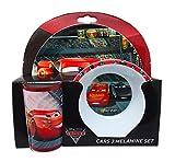 Disney Cars 33pezzi Set da tavola, in melammina, multicolore, 8.6x 23.6x 22.6cm