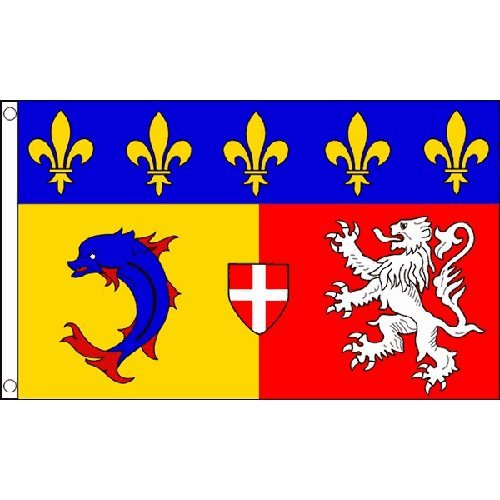 Rhone-Alpes Flag 5Ft X 3Ft France French Region Banner With 2 Eyelets New by Rhone-Alpes