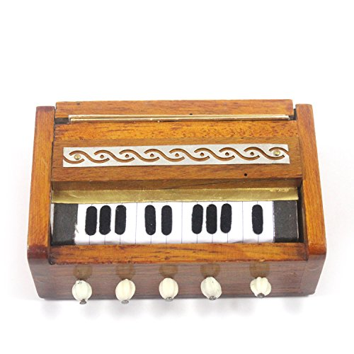 100% Pure Indian Handmade Miniature Musical Instruments Magnetic Harmonium (Decorative Showpiece Gift / Does Not Play Sound) Size:- H-3 x L-9 x W-6 (Cms)