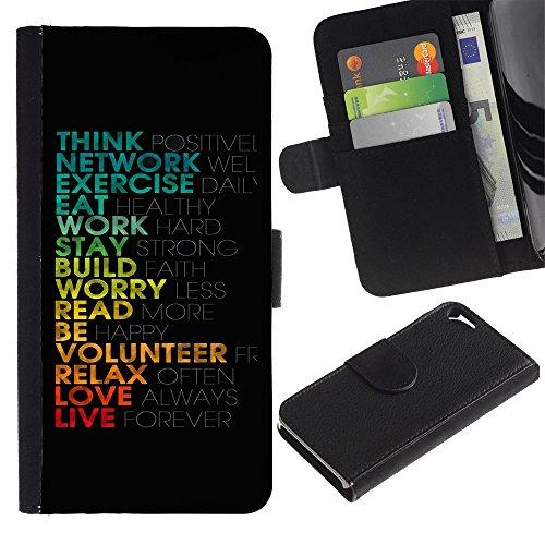 Graphic4You Record Cracks Design Brieftasche Leder Hülle Case Schutzhülle für Apple iPhone SE / 5 / 5S Design #5
