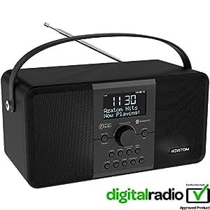 azatom multiplex dab digital fm radio bluetooth battery. Black Bedroom Furniture Sets. Home Design Ideas