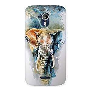 Premium Elephant Art Back Case Cover for Micromax Canvas Magnus A117