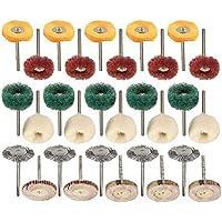 BXU-BG abrasivos industriales 30pcs cepillo conjunto para herramientas rotativas pulido rueda pulido almohadilla