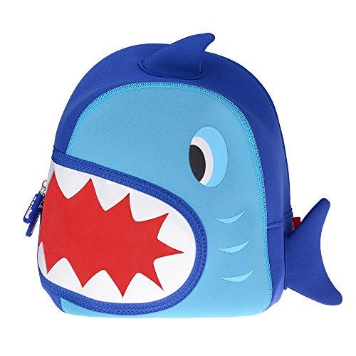 Georgie porgy zaino per bambini ragazze ragazzi zaini migliori scuola escursioni viaggi sidekick bag confezione zaini squalo blu scuro