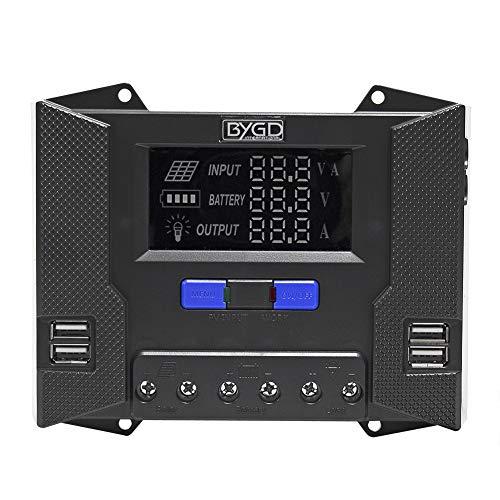 Signstek Solar Panel Regler Laderegler - 20A Ladegerät mit 4 USB und HD Display Controller für Photovoltaikmodule Batterien Lampen laden (CP-20A)