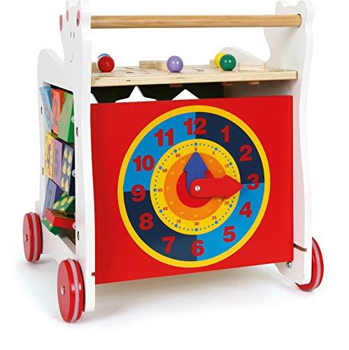 """Lauflernwagen""""Bär"""", Lauflernhilfe aus Holz, vielseitig bespielbares Motorikspielzeug/Lernspielzeug, Babyspielzeug ab 12 Monaten - 3"""
