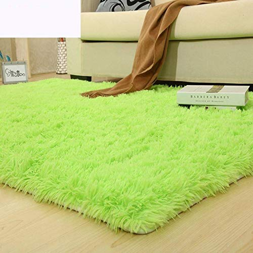 Über Living Room Coffee Table (Velvet living room coffee table carpet bedroom bedside bay window office full shop silk porch carpet customizable size-Fruit green,200 * 250CM)