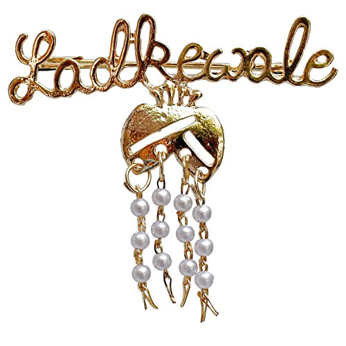 Lucky Jewellery Trendy Ladkewale Gold Plated Wedding Brouch/Brooch Pin for Men & Women (93-LADKEWALE)