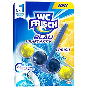 WC FRISCH Blau Kraft-Aktiv Lemon, WC-Reiniger und Farbspüler, 10er Pack (10 x 1 Stück)