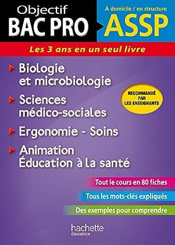 Fiches ASSP Soins, santé, Biologie et