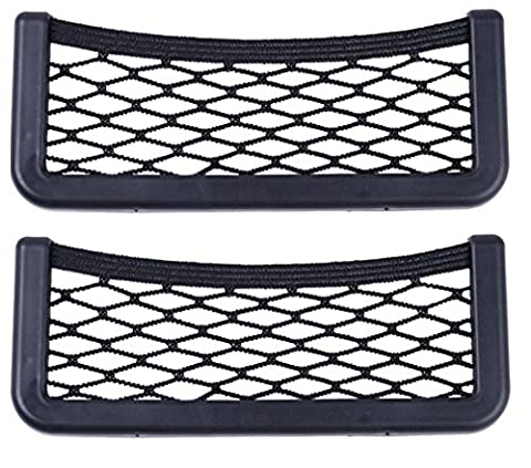 Set of 2 Adhesive Storage Net Large + Large Storage Compartment for Cadillac 19 x 8 cm