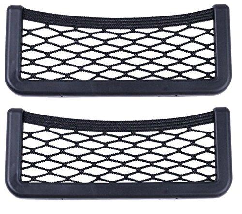 Preisvergleich Produktbild 2er SET Ablagenetz selbstklebend Größe L+L Ablagefach für BMW 19 x 8 cm