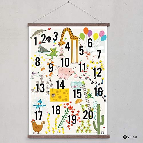 ABC Poster Alphabet Buchstaben Plakat Kinderzimmer - 7