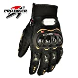 #2: Varshine Premium Quality Pro-Biker Motorcycle Riding Gloves (Black) G-413