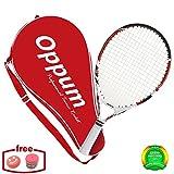 OPPUM niños pequeños niños raqueta de tenis peso ligero raqueta de tenis conjunto incluyen bolsa de tenis, tenis sobregrip, amortiguador de vibración (rojo, 19 pulgadas)