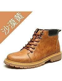HL-PYL-bottes à semelles épaisses bottes bottes chaussures haut Cachemire chaud Bottes Martin rétro,39,Black