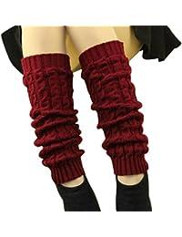 DDLBiz® 1 Paire Femmes Hiver Chaud Bas Guêtre-Jambière-Cuissard-Legging Chaussettes en Acrylique à Tricoter