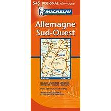 Carte Régional Allemagne Sud-Ouest
