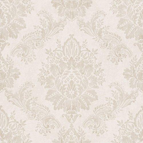 Rasch Papiertapete in creme beige mit Ornamenten 204803