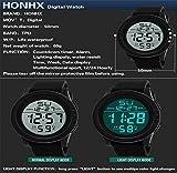 Uhren Herrenmode Doppelanzeige Elektronische Multifunktionsuhr Outdoor-Sport Wasserdichte Kaltlicht Herren Business