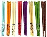 10 Ohrkerzen Sunglow® Konisch 8 Farben (5 Paar) mit Sicherheitsfilter (Mix (bunt))