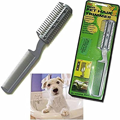 Dpny Cat Dog Pet Puppy Long Hair Grooming Comb Brush Trimmer Razor Cutter Blades Cut by DPNY