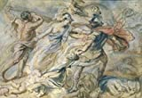 Peter Paul Rubens - Battle of Mars and Minerva Study by