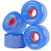 JUCKER HAWAII Ruedas para Longboard Slide Wheels SUPERBALLS 70mm 80A Azul