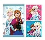 Theonoi Set di Asciugamani (3 Pezzi): 1 X Fazzoletto da Viso, 2 X Asciugamano/Guanto – Splendido Regalo per la Nascita o per Natale 100% Cotone (Disney Frozen)