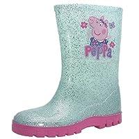 Peppa Pig Girls Blue Glitter Wellies (10 Child UK)