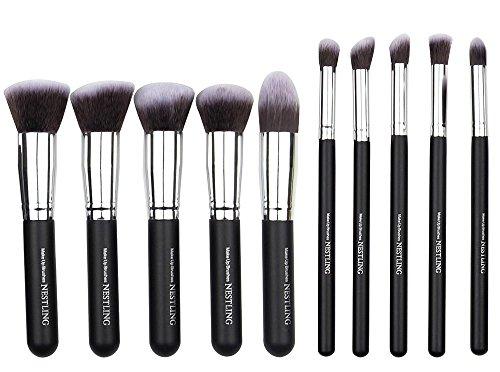 nestlingr-kit-de-pinceau-maquillage-professionnel-10-pcs-ombre-a-paupiere-argente-blush-fondation-pi